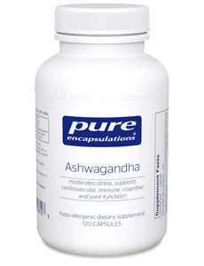 Bottle of Ashwagandha Supplements